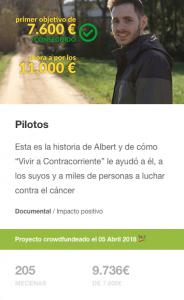 Pilotos, campaña de crowdfunding en Verkami